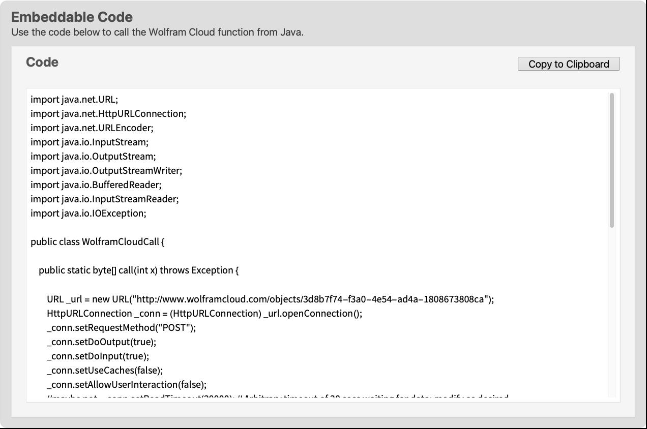 Java—Wolfram Language Documentation